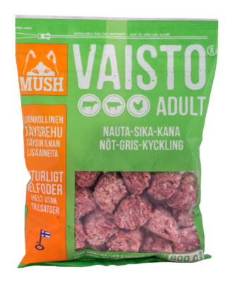 MUSH Vaisto Vihreä Nauta-Sika-Kana 800g / 6,4kgg / 6,4kg