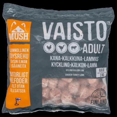 MUSH Vaisto Harmaa Kalkkuna-Kana-Lammas 3kg / 9kg