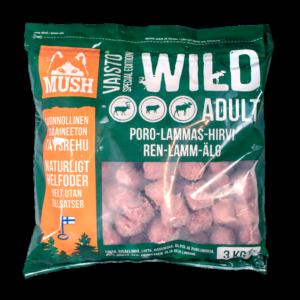 Mush Vaisto Wild Poro-Lammas-Hirvi 3kg