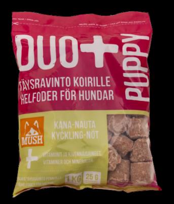 MUSH DUO+ PUPPY Kana-Nauta 1 kg