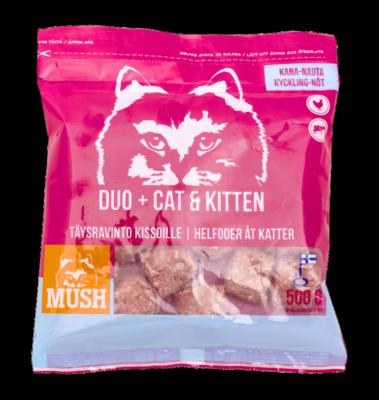 MUSH DUO+ CAT-KITTEN Kana-Nauta 500g / 5kg