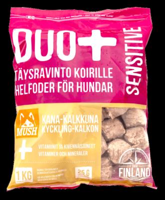 MUSH DUO+ SENSITIVE Kana-Kalkkuna 1kg / 6kg